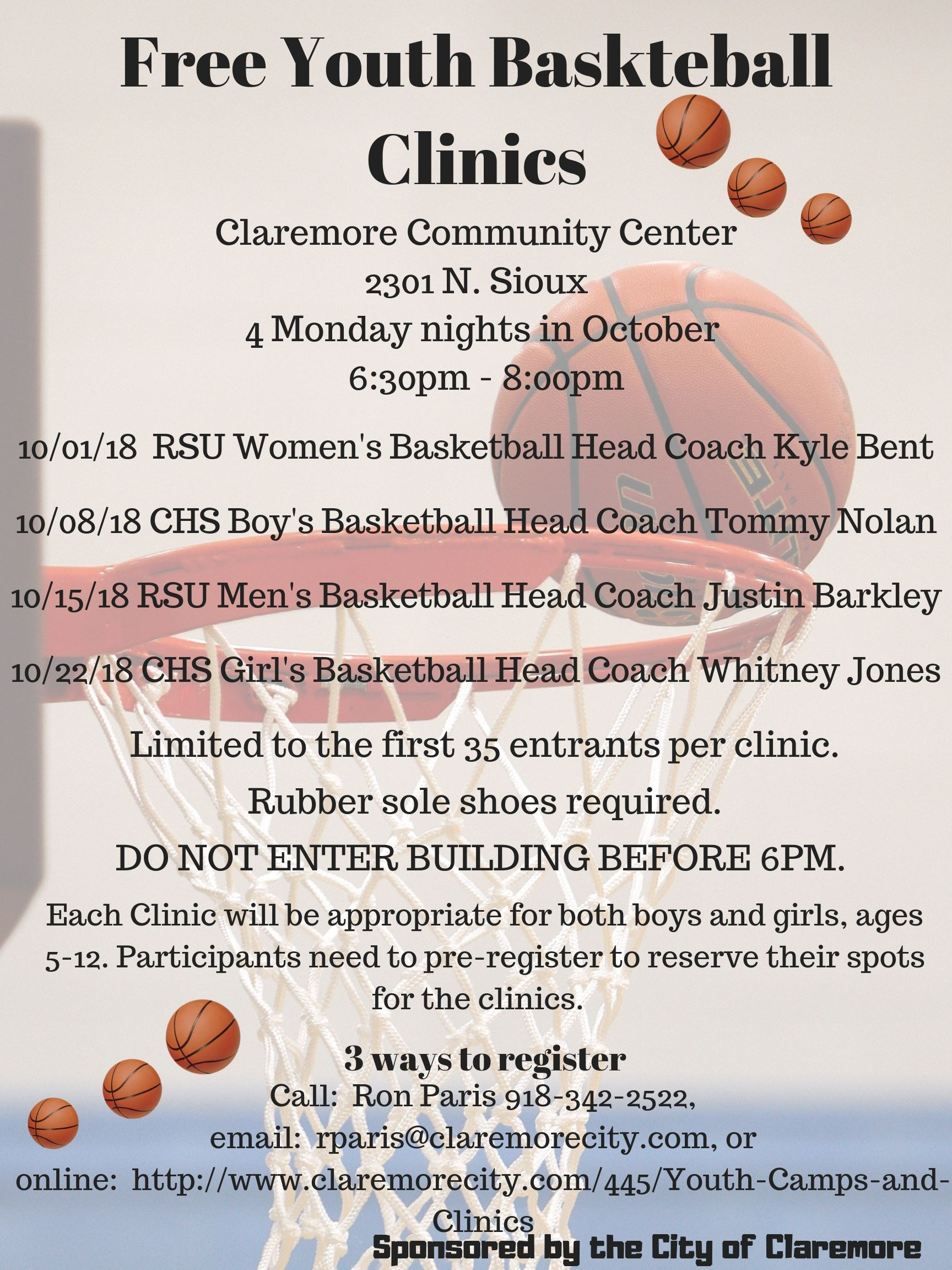 Free Youth Baskteball Clinics (2)