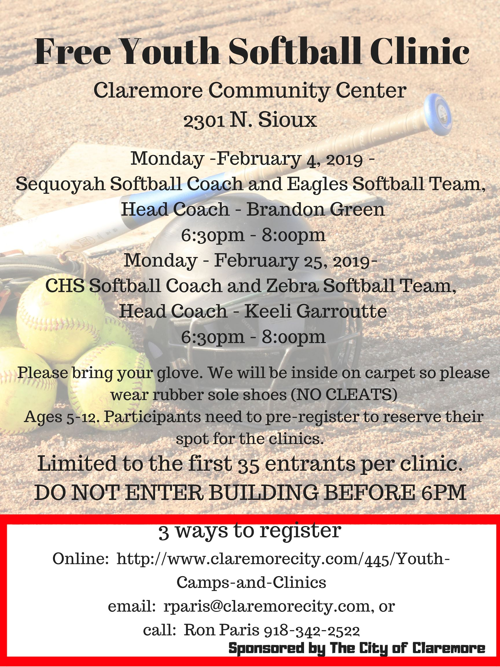 Free Youth Softball Clinic