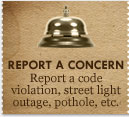 report a concern report a code violation, street light outage, pothole, etc.